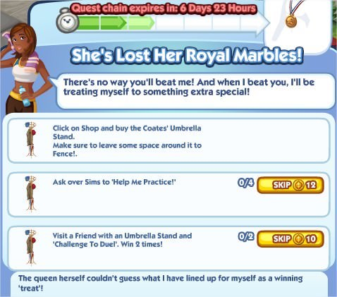 The Sims Social, She's Lost Her Royal Marbles! 3