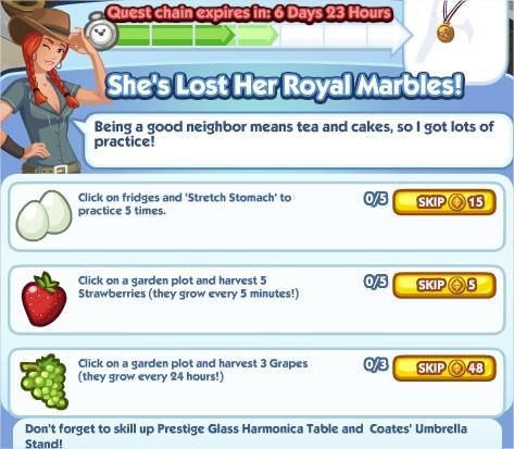 The Sims Social, She's Lost Her Royal Marbles! 4