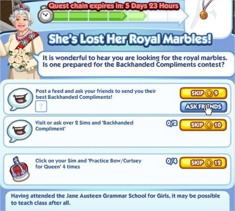 The Sims Social, She's Lost Her Royal Marbles! 5