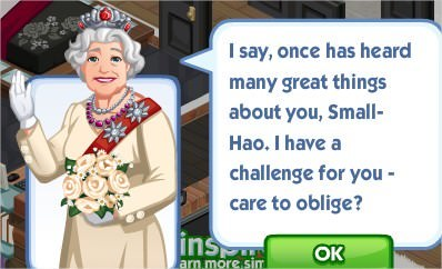 The Sims Social, Britain Eccentric Challenge