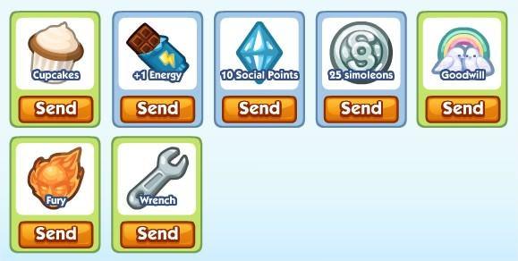 The Sims Social, 免費禮物(120726)