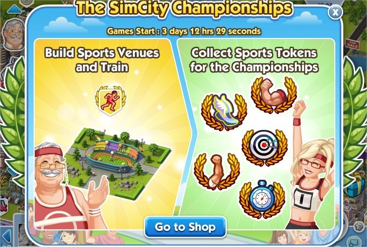 SimCity Social, sports