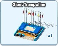 SimCity Social, Giant Trampoline