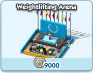 SimCity Social, Weightlifting Arena