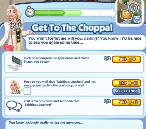 The Sims Social, Get To The Choppa! 3