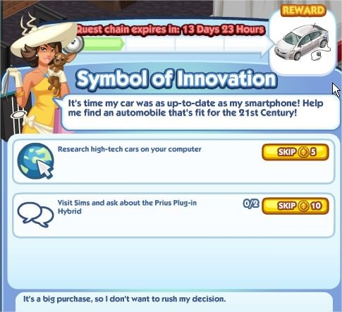 The Sims Social, Symbol of Innovation 1