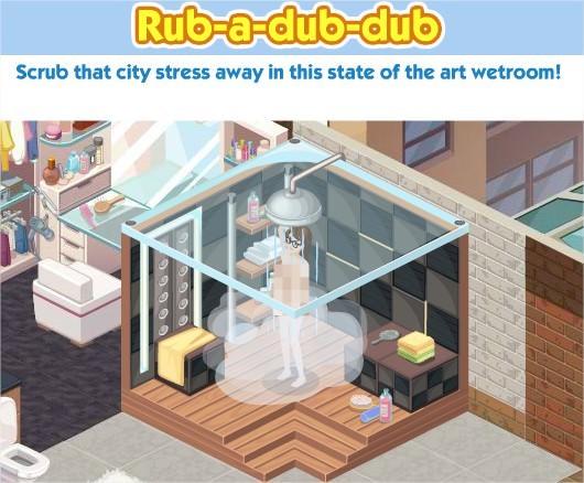 The Sims Social, Executive Shower