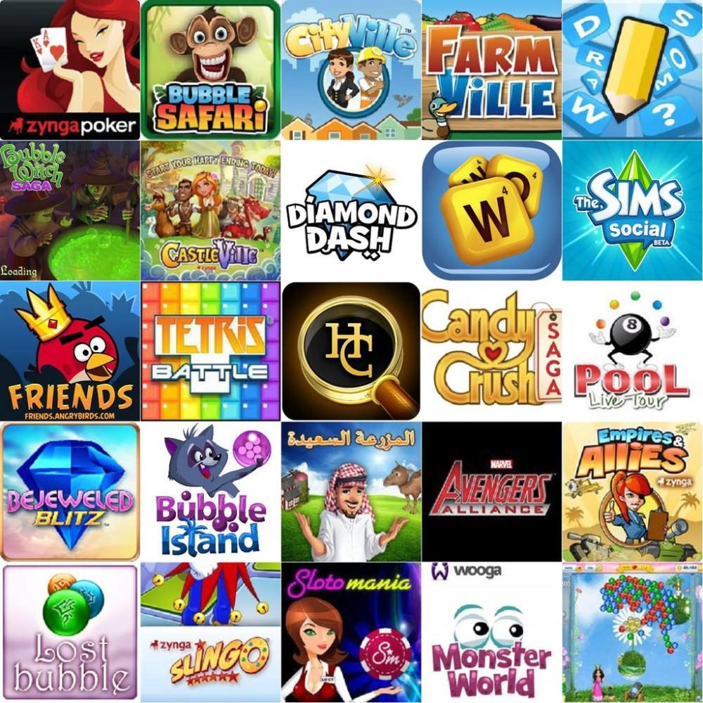 Facebook 最熱門的25個遊戲(2012年7月)