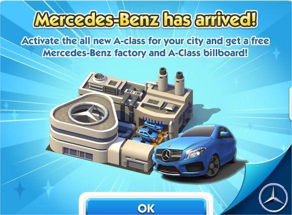 SimCity Social, Mercedes-Benz