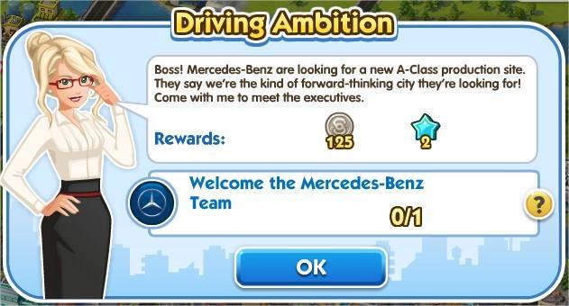 SimCity Social, Driving Ambition