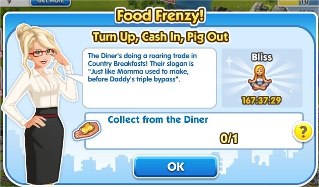 SimCity Social, Turn Up, Cash In, Pig Out