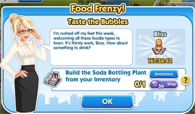 SimCity Social, Taste the Bubbles