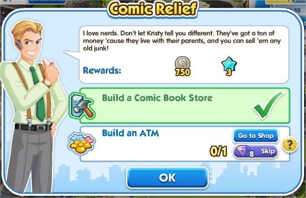 SimCity Social, Comic Relief