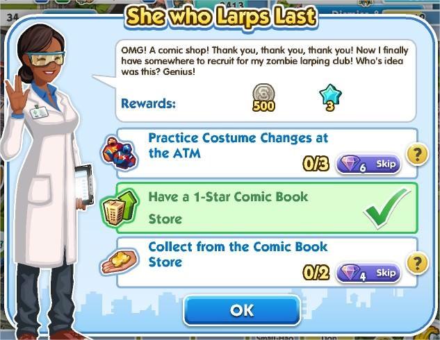 SimCity Social, She who Larps Last