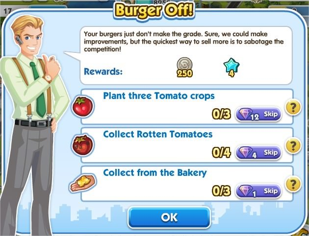 SimCity Social, Burger Off!