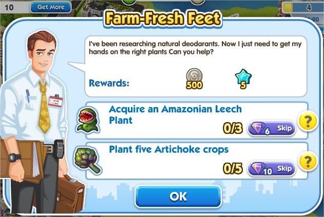 SimCity Social, Farm-Fresh Feet