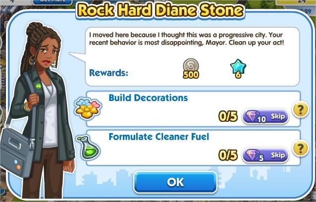 SimCity Social, Rock Hard Diane Stone