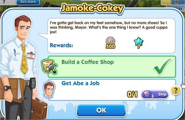 SimCity Social, Jamoke-Cokey