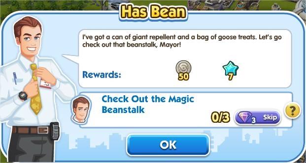 SimCity Social, Has Bean