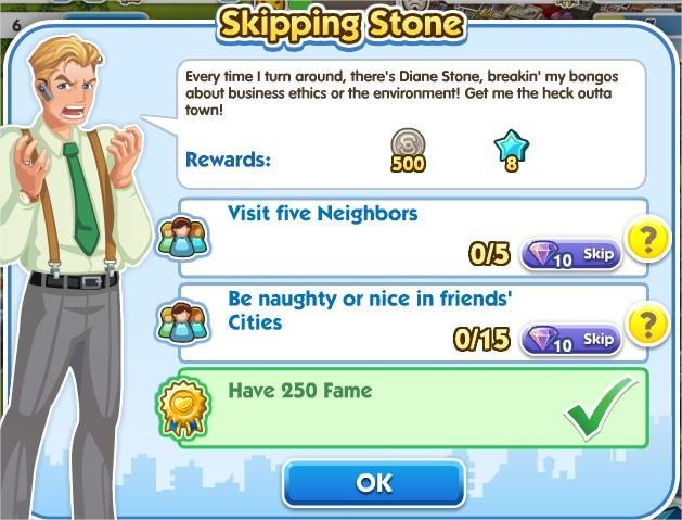 SimCity Social, Skipping Stone