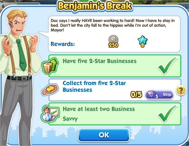 SimCity Social, Benjamin