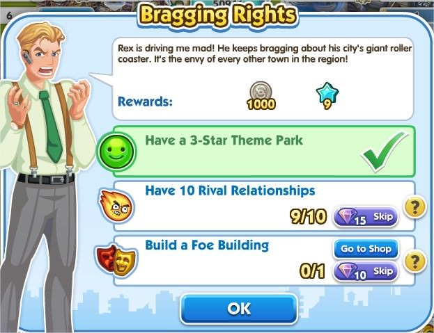 SimCity Social, Bragging Rights