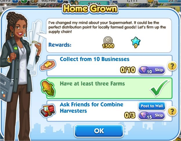 SimCity Social, Home Grown