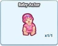 SimCity Social, Baby Actor