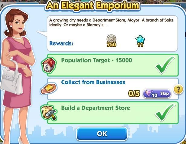 SimCity Social, An Elegant Emporium