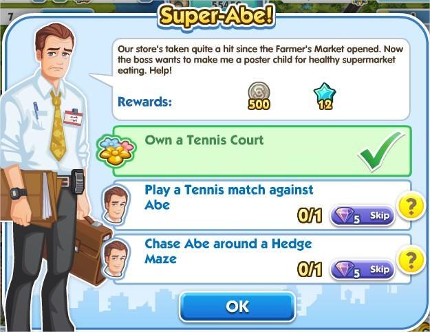 SimCity Social, Super-Abe!