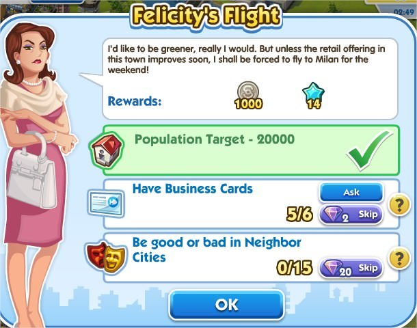 SimCity Social, Felicity