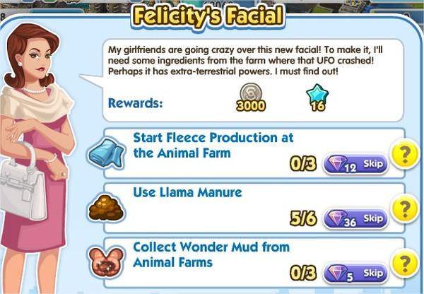 SimCity Social, Felicity's Facial