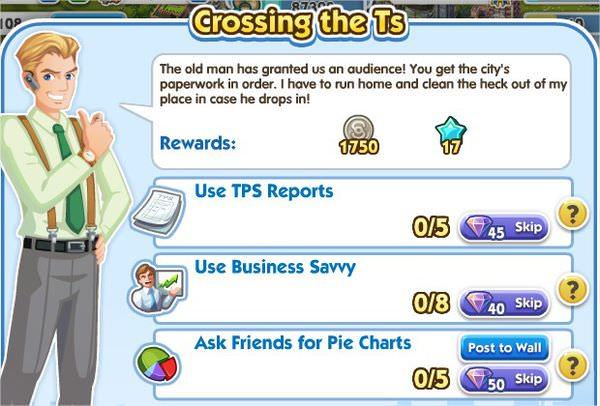 SimCity Social, Crossing the Ts