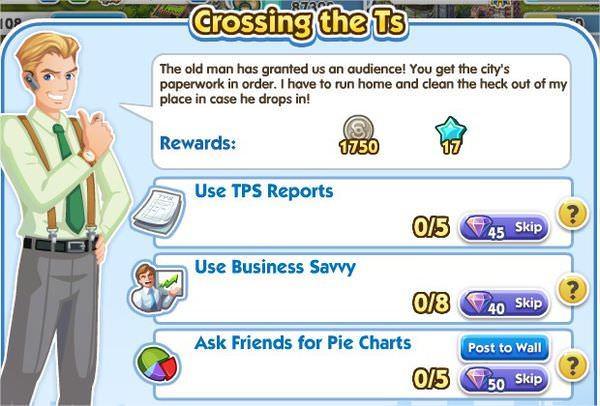 SimCity Social, Crossing the Ts