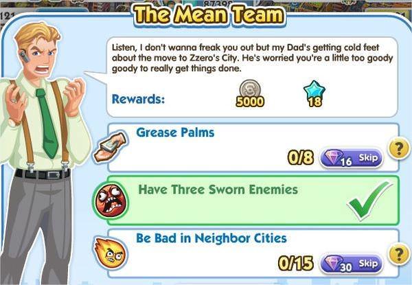 SimCity Social, The Mean Team