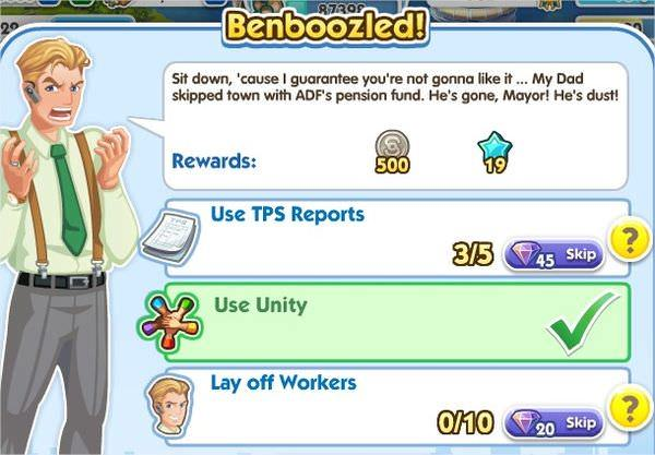 SimCity Social, Benboozled!