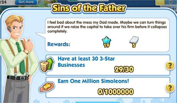 SimCity Social, Sins of the Father