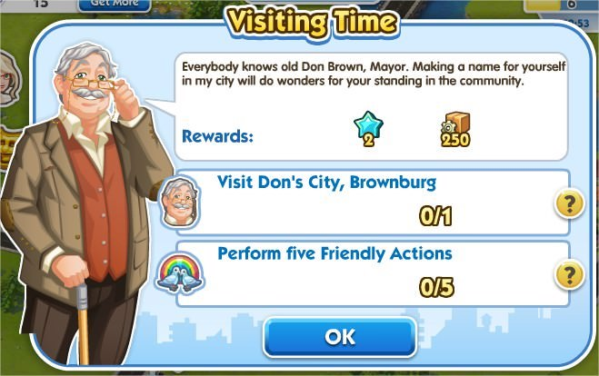SimCity Social, Visiting Time