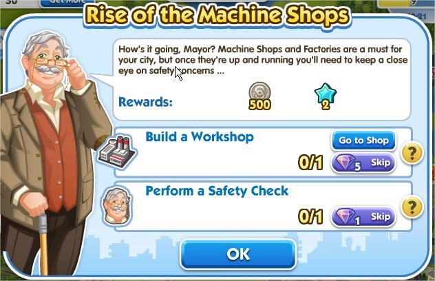 SimCity Social, Rise of the Machine Shops