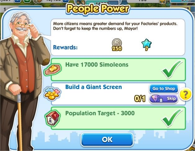 SimCity Social, People Power