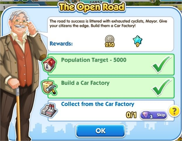 SimCity Social, The Open Road