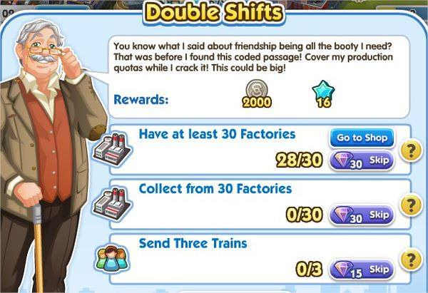SimCity Social, Double Shifts