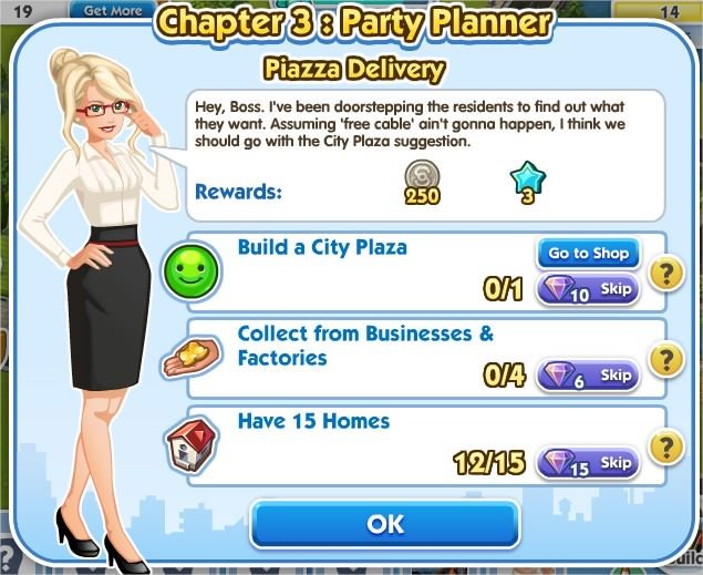 SimCity Social, Piazza Delivery