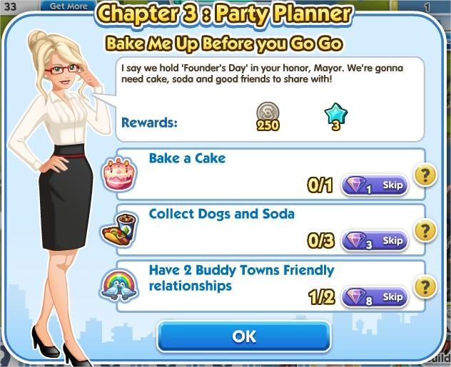 SimCity Social, Bake Me Up Before you Go Go