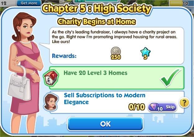 SimCity Social, Charity Begins at Home