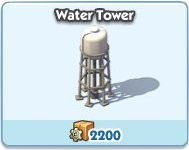 SimCity Social, Water Tower