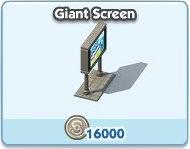 SimCity Social, Giant Screen