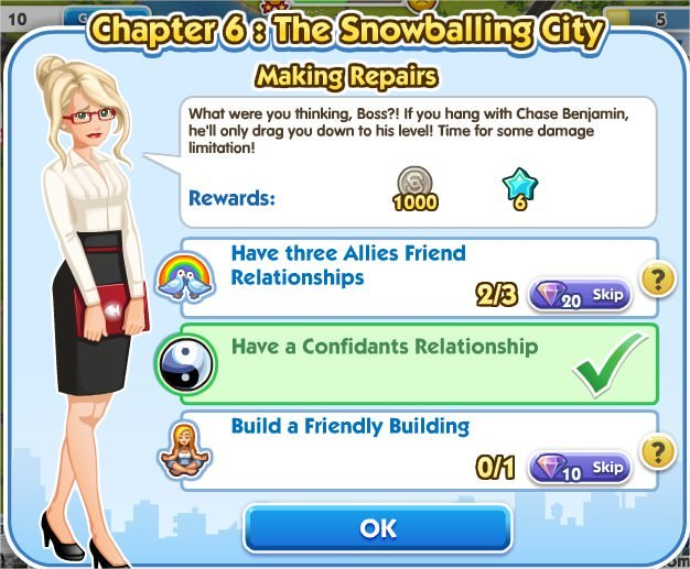 SimCity Social, Making Repairs