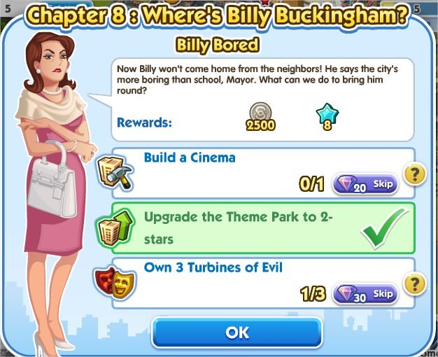 SimCity Social, Billy Bored