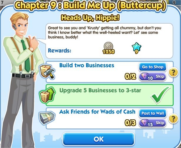 SimCity Social, Heads Up, Hippie!